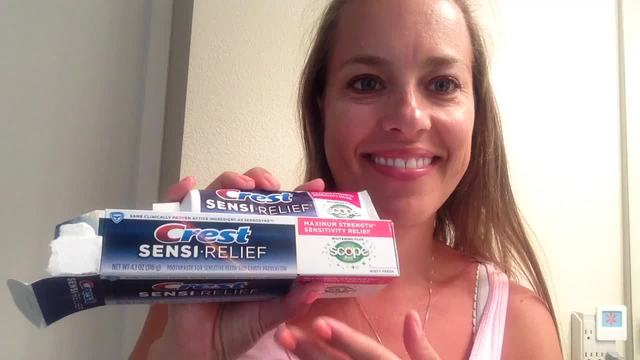 Sensitive toothpaste with whitening products too - great idea!
