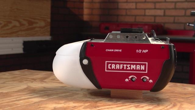 video thumbnail craftsman craftsman 12 hp chain drive garage door opener