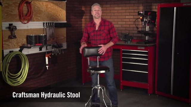 Video Thumbnail. Craftsman Craftsman Chrome/Vinyl Hydraulic Hydraulic Stool 1 & Craftsman Chrome/Vinyl Hydraulic Hydraulic Stool islam-shia.org