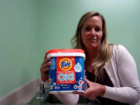 I have loved using this Tide Oxi stain remover.